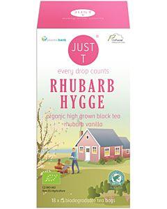 JUST T RHUBARB HYGGE MUSTA TEE LUOMU 18X1,75G