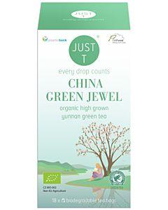 JUST T CHINA GREEN JEWEL VIHREÄ TEE LUOMU 18X2G