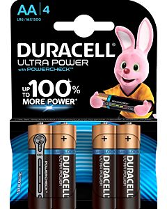 DURACELL ULTRA POWER AA ALKALIPARISTO 4KPL