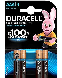 DURACELL ULTRA POWER AAA ALKALIPARISTO 4KPL
