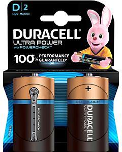 DURACELL ULTRA POWER D ALKALIPARISTO 2KPL