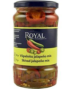 ROYAL VIHREÄ&PUNAINEN JALAPENO VIIPALE MIX  360/175G