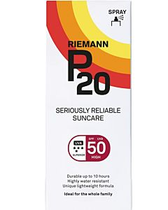 P20 100ML  SPF50 SPRAY AURINKOSUOJA