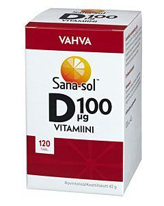 SANA-SOL D-VITAMIINI 100µG VAHVA 120TABL