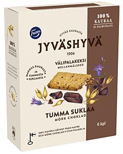FAZER JYVÄSHYVÄ VÄLIPALAKEKSI TUMMA SUKLAA 6X30G