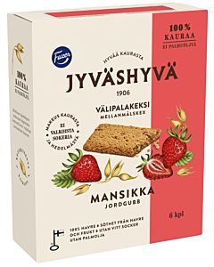 FAZER JYVÄSHYVÄ VÄLIPALAKEKSI MANSIKKA 6X30G