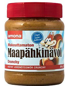 AMONA MÄÄPÄHKINÄVOI CRUNCHY MAKEUTTAMATON 350G