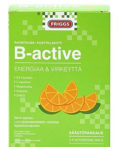 FRIGGS B-ACTIVE VITAMIINI PORETABLETTI 3X20KPL