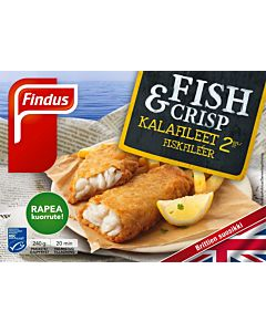 PAKASTE FINDUS FISH & CRIPS KALAFILEET MSC 240G