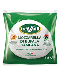 TREVALLI MOZZARELLA DI BUFFALA CAMPANA D.O.P. 125G