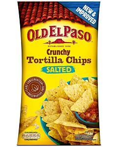 OLD EL PASO CRUNCHY TORTILLA CHIPS SALTED 185G