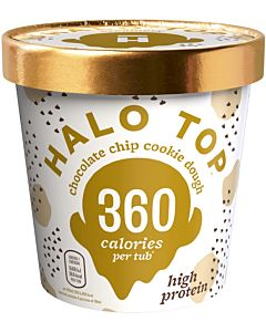 PAKASTE HALO TOP CHOCOLATE CHIP COOKIE DOUGH JÄÄTELÖ 473ML