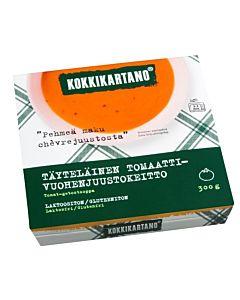 KOKKIKARTANO TÄYTELÄINEN TOMAATTI-VUOHENJUUSTOKEITTO 300G GLUTEENITON