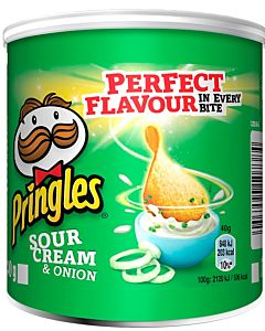 PRINGLES PERUNALASTU SOUR CREAM & ONION 40G