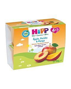 HIPP LUOMU FRUIT BREAK OMENAA, PERSIKKAA & MANGOA 4KK 4x100G GLUTEENITON