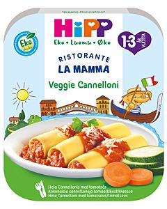 HIPP LUOMU LA MAMMA PASTA VEGGIE CANNELONI 1-3V 250G