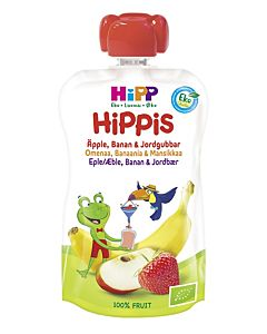 HIPPIS LUOMU OMENA, BANAANI JA MANSIKKA 6KK 100G