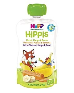 HIPPIS LUOMU SMOOTHIE PORKKANAA, MANGOA & BANAANIA 4KK 100G