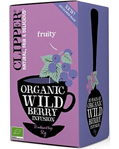 CLIPPER LUOMU TEE WILD BERRY 20PSS/40G