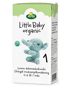 ARLA LITTLE BABY ORGANIC 1 LUOMU MAITOPOHJAINEN ÄIDINMAIDONKORVIKE UHT 500ML