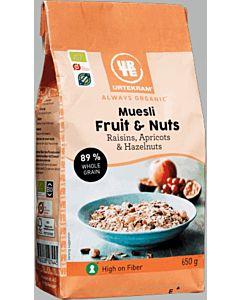 URTEKRAM LUOMU FRUIT & NUTS MYSLI 650G