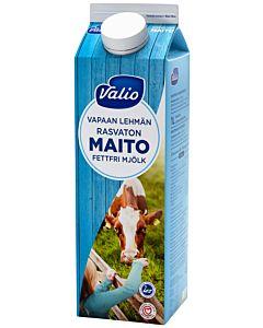 VALIO VAPAAN LEHMÄN RASVATON MAITO 1L