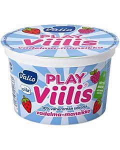 VALIO PLAY VIILIS VADELMA-MANSIKKA 200G LAKTOOSITON