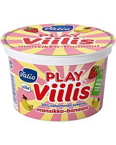 VALIO PLAY VIILIS MANSIKKA-BANAANI 200G LAKTOOSITON
