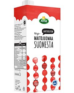 ARLA LAKTOOSITON TÄYSMAITOJUOMA 1L UHT SUOMI