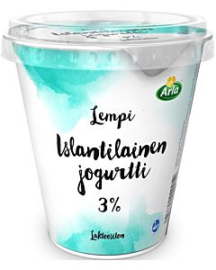 ARLA LEMPI ISLANTILAINEN JOGURTTI 3% 300G LAKTOOSITON