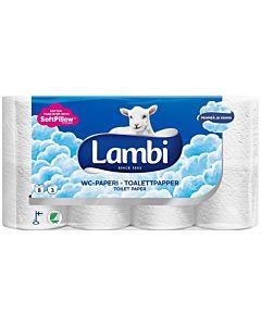 LAMBI WC-PAPERI VALKOINEN 8 RULLAA