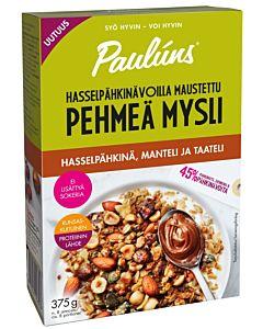 PAULUNS PEHMEÄ MYSLI HASSELPÄHKINÄ-MANTELI-TAATELI 375G