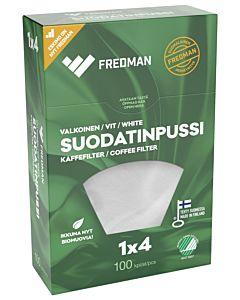 FREDMAN SUODATINPUSSI VALKOINEN NO4/100KPL