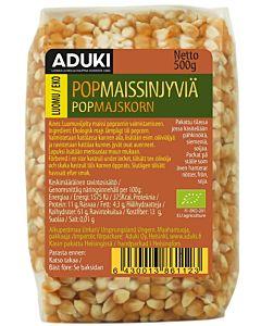 ADUKI POP MAISSINJYVÄ LUOMU 500G