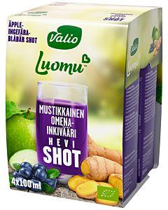 VALIO LUOMU MUSTIKKAINEN OMENA-INKIVÄÄRI SHOT 4X100ML