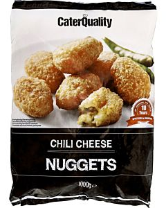 PAKASTE CATER QUALITY CHILI CHEESE NUGGETS 1KG