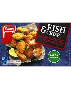 PAKASTE FINDUS FISH & CRISP KALANUGGETIT MSC 245G
