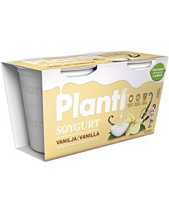 PLANTI SOYGURT VANILJA 2x150G LAKTOOSITON