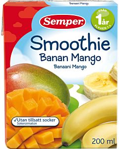 SEMPER SMOOTHIE BANAANI-MANGO 12KK 200ML