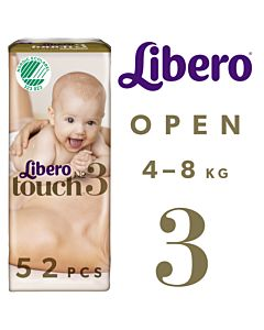 LIBERO TOUCH TEIPPIVAIPPA KOKO 3 (4-8KG) 52KPL