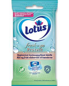 LOTUS FRESH TO GO PROTECT KOSTEUSPYYHE 10 KPL