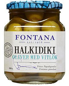 FONTANA HALKIDIKI OLIIVI VALKOSIPULI 380/210G