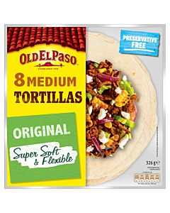 OLD EL PASO VEHNÄTORTILLA MEDIUM 8/326G