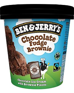 PAKASTE BEN & JERRY'S CHOCOLATE FUDGE BROWNIE 465ML