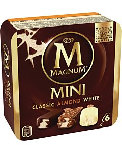 PAKASTE MAGNUM MINI CLASSIC/ALMOND/WHITE 6x55ML