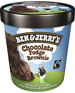 PAKASTE BEN & JERRY'S CHOCOLATE FUDGE BROWNIE  FAIRTRADE 500ML
