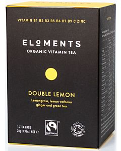 ELOMENTS ORGANIC VITAMIN TEA DOUBLE LEMON LUOMUTEE 14PSS/ 28G