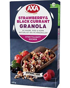 AXA GRANOLA STRAWBERRY & BLACK CURRANT 475G
