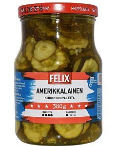 FELIX AMERIKKALAINEN 730/380G KURKKUVIIPALEITA MAKEASSA MAUSTELIEMESSÄ