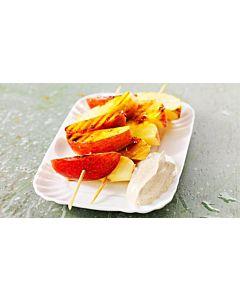 Resepti-Grillatut omenavartaat ja kanelikreemi